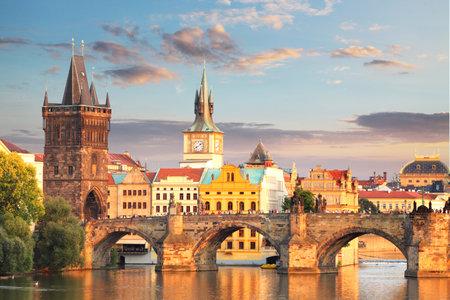プラハ カレル橋チェコ共和国
