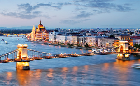 cadenas: Budapest Hungr�a  Foto de archivo