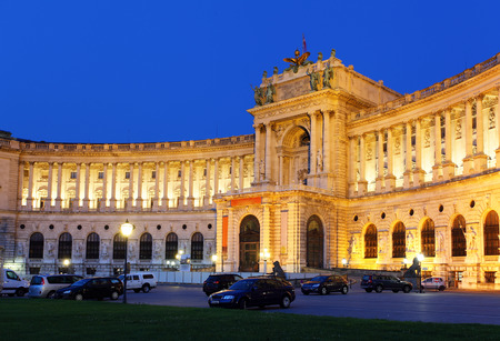 Vienna Hofburg Imperial Palace at night  Austria