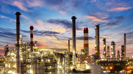 Factory, Industry, Oil Refinery Stock Photo
