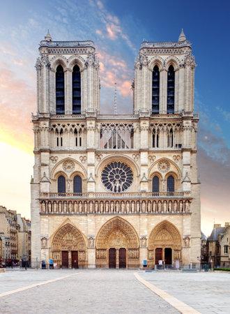 catholic symbol: Notre Dame Cathedral  Paris