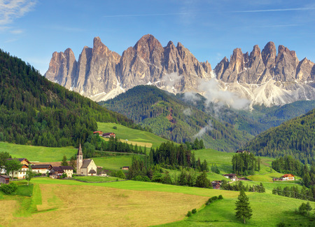 Dolomity Val di Funes v Itálii Reklamní fotografie