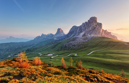 beautiful scenery: Mountain landscape - dolomites Stock Photo