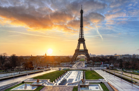 Eiffel Tower: Sunrise in Paris, with  Eiffel Tower