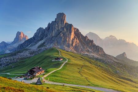 ホテル Passo Giau - ドロミテ - イタリア 写真素材