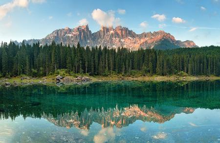 lago: Dolomites Lake Karersee Lago di Carezza, Italy