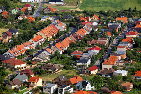 suburb: Village house - Aerial view