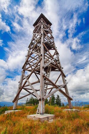 lookout: Lookout tower in Slovakia - Luby Stock Photo