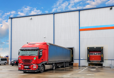 lorry: Transportation freight industry Stock Photo
