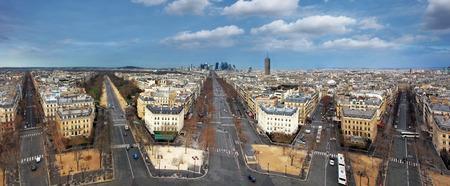 champs elysees quarter: Paris panorama from Arch de Triumph