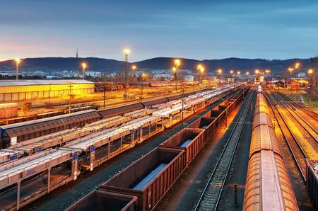 good night: Train freight - Cargo railroad industry