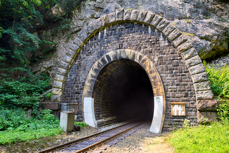 black train: Train Tunnel - Harmanec, Slovakia