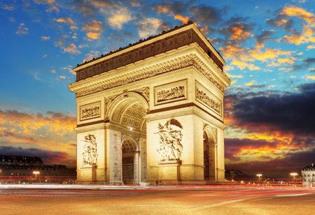 Paris, Arc de Triumph, France Redactioneel