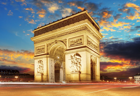 Paris, Arc de Triumph, France 新闻类图片
