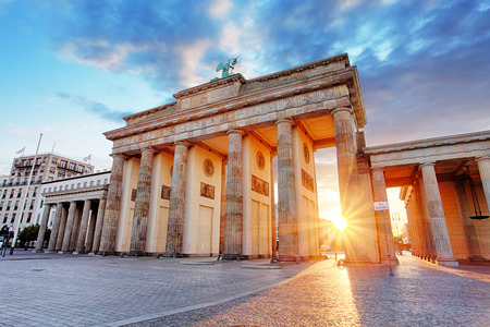 Berlin, Brandenburg gate, Germany 스톡 콘텐츠