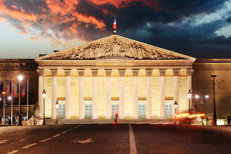 palais: Palais Bourbon - French Parliament, Paris, Assemblee Nationale Editorial