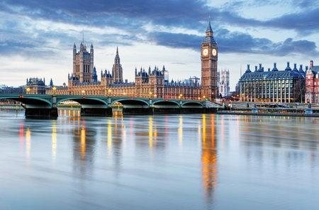 big: Londres - Big Ben y las Casas del Parlamento, Reino Unido Foto de archivo