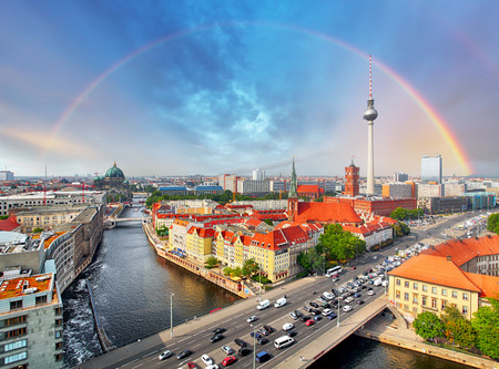 Berlin city with rainbow, Germany