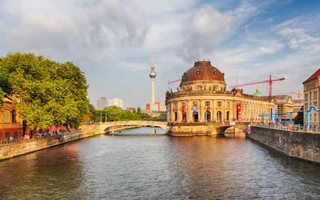 bode: Berlin, river with Bode museum
