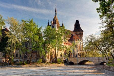 castle buildings: Vajdahunyad Castle, Budapest, Hungary