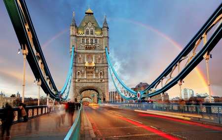 London, de Tower Bridge Stockfoto