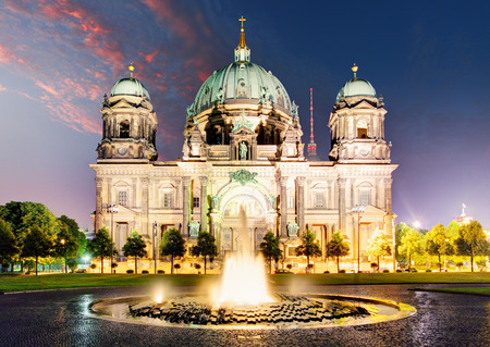 dom: Berlin Cathedral Berliner Dom famous landmark in Berlin City, Germany Editorial