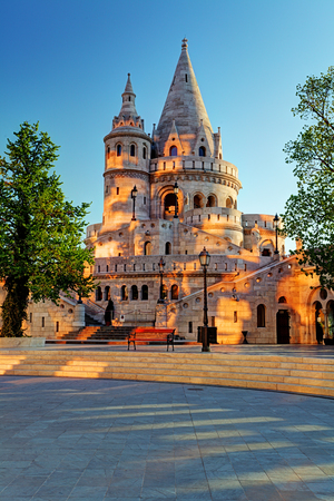 fisherman bastion: Budapest - Fisherman bastion at sunrise