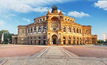 드레스덴 - Semperoper, 독일 스톡 콘텐츠