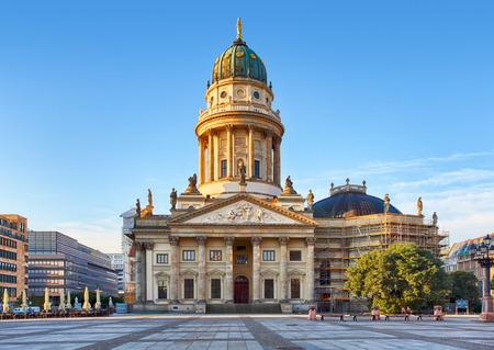 dom: Gendarmenmarkt in Berlin, Germany. View on German Cathedral Stock Photo
