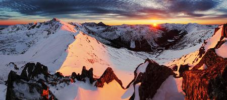 tatry: Winter mountain in Poland from Tatras - Kasprowy Wierch