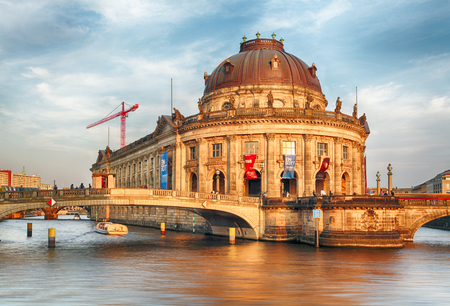 bode: Bode Museum in Berlin at sunset Editorial