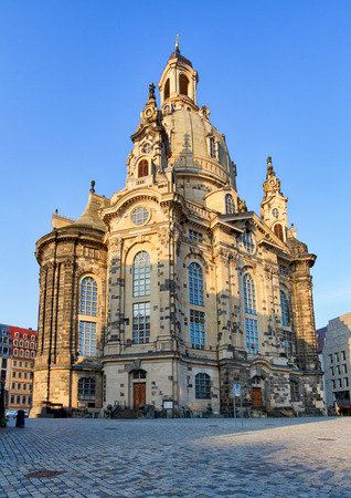 the frauenkirche: Frauenkirche cathedral in Dresden, Germany