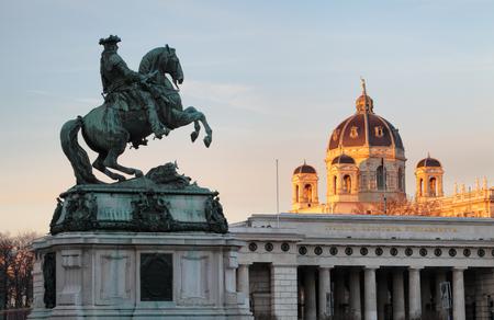 the memorial: Vienna  Wien, Austria - Horse and rider memorial.