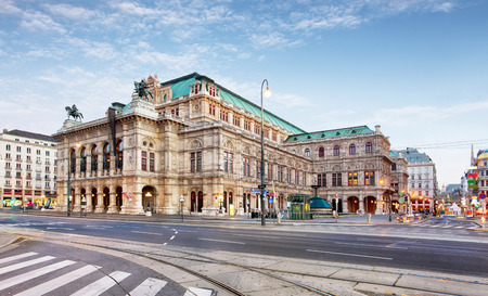 Vienna Opera house, Austria 스톡 콘텐츠