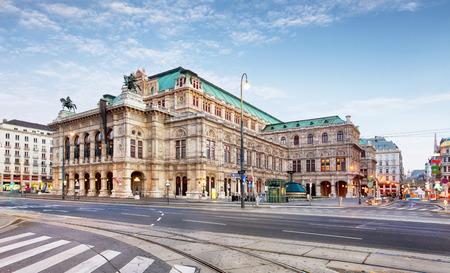 Wenen Opera House, Oostenrijk Stockfoto