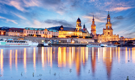 europeans: View of Dresden on Elbe, Saxony, Germany