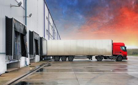トラック輸送 写真素材