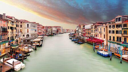 rialto: Venice - Grand canal from Rialto bridge Stock Photo