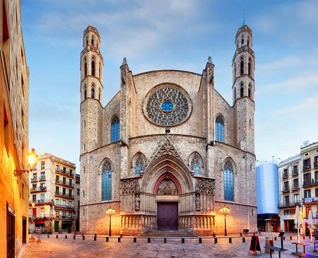 Chiesa di Santa Maria del Mar a Barcellona Archivio Fotografico - 53131262
