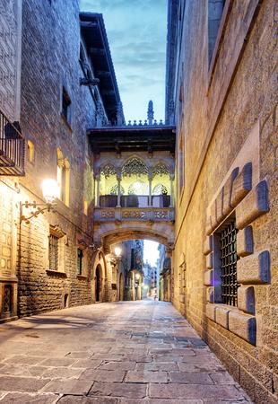 old quarter: Gothic Quarter. Barcelona. Spain.