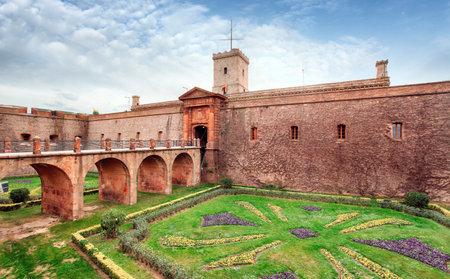 Montjuic Castle, Barcelona, Spain 에디토리얼
