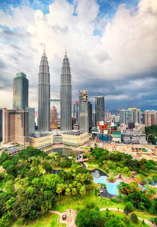 gemelas: Kuala Lumpur, Malasia horizonte.