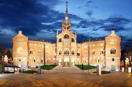 modernisme: Hospital Sant Pau in Barcelona, Spain
