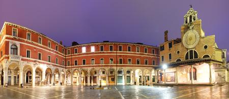 san giacomo: San Giacomo di Rialto - oldest church in Venice at night