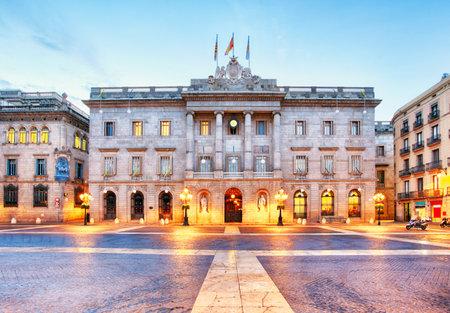 generalitat: City council on Barcelona, Spain. Plaza de Sant Jaume.
