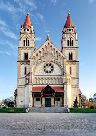 st  francis: St. Francis of Assisi Church in Vienna, Austria.