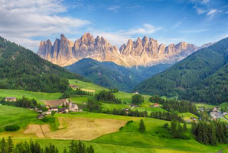 di: Italy dolomites - Val di Funes Stock Photo