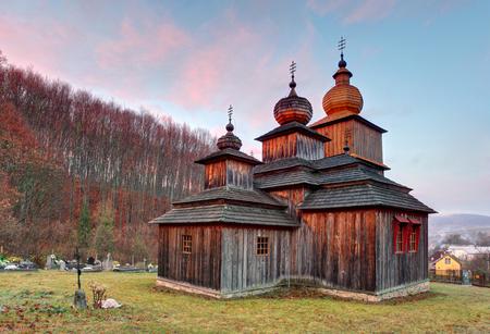 GLise en bois catholique grecque, Dobroslava, Slovaquie Banque d'images - 57048297