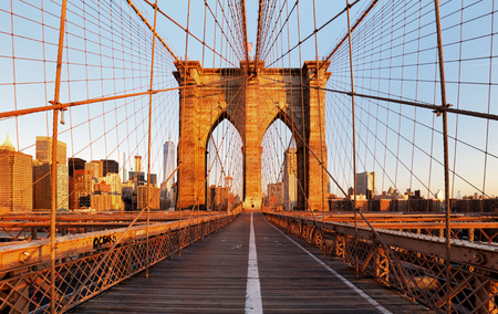 Brooklyn Bridge, New York City, nobody Banco de Imagens