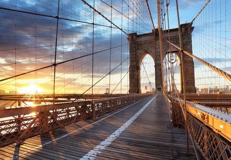 New York, Brooklyn bridge, Lower Manhattan, USA Stock fotó